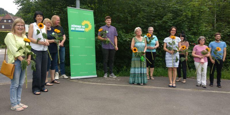 Von links nach rechts: Karin Gutschlag (Platz 7), Sabine Wever-Gall (Platz 8), Heidi Schmidt-Adler (Platz 3), Walter Gutschlag (Platz 6), Jan Wölkerling (Platz 4), Carina Hennecke (Platz 1), Petra Zylla (Platz 5), Katharina Rittinghaus (Platz 2), Silke Heseler (Platz 11), Brigitte Hornig (Platz 9), Thilo Hornig (Platz 10 - wurde nicht zugelassen)